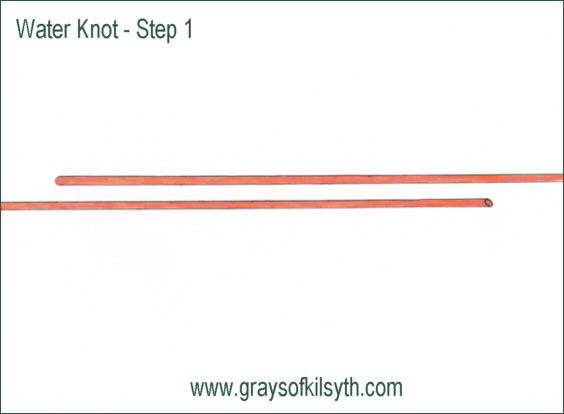 Water Knot - step 1
