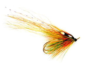 The Highlander Flamethrower salmon fly