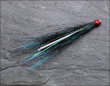 Black and Blue sea trout needle tube fly