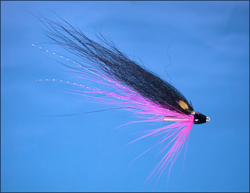 Pink Wee Monkey salmon tube fly